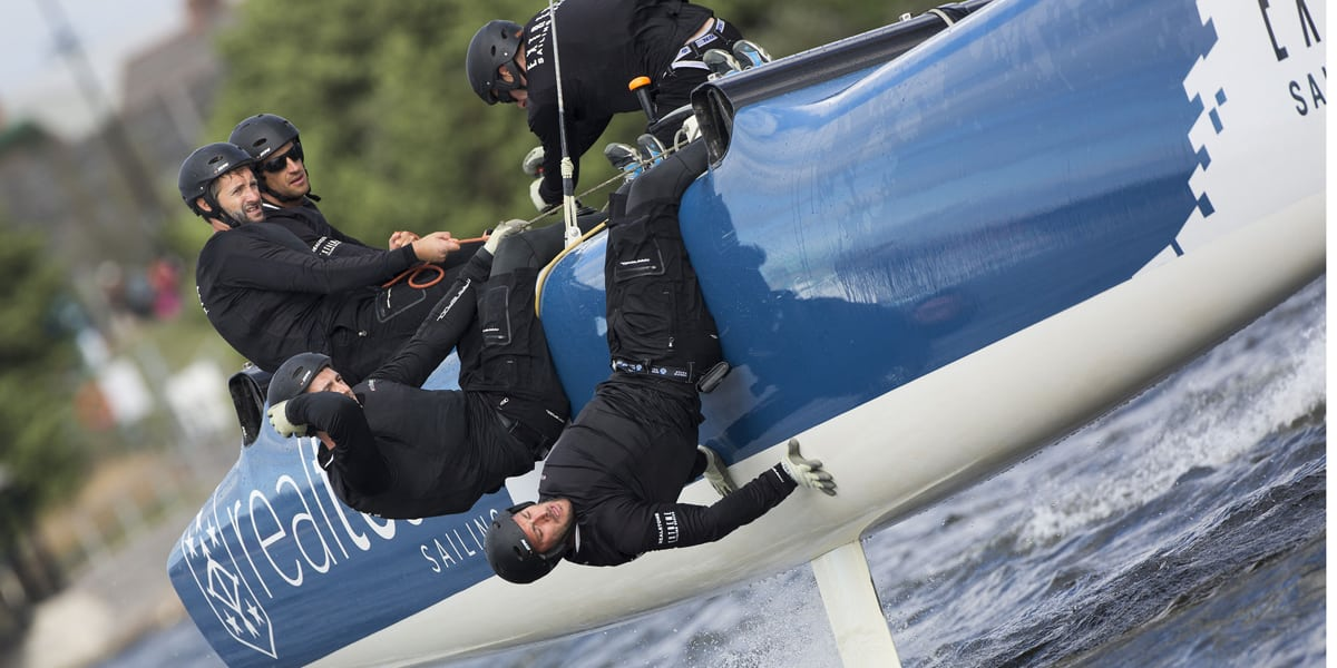 Realteam consistent against the 'Big Four' at Extreme Sailing Series in Cardiff