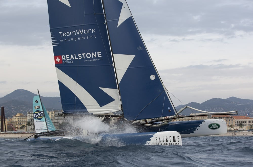 Realteam continues to progress finishing fourth at Act 7 of Extreme Sailing Series in Nice