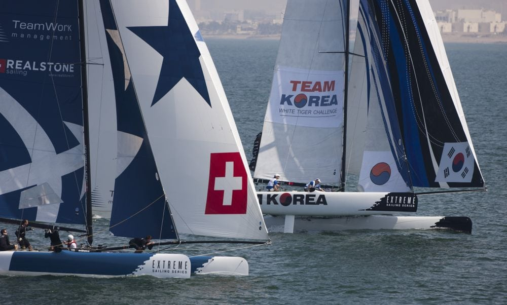 Realteam aims for consistency at Act 2 of the Extreme Sailing Series in Muscat, Oman