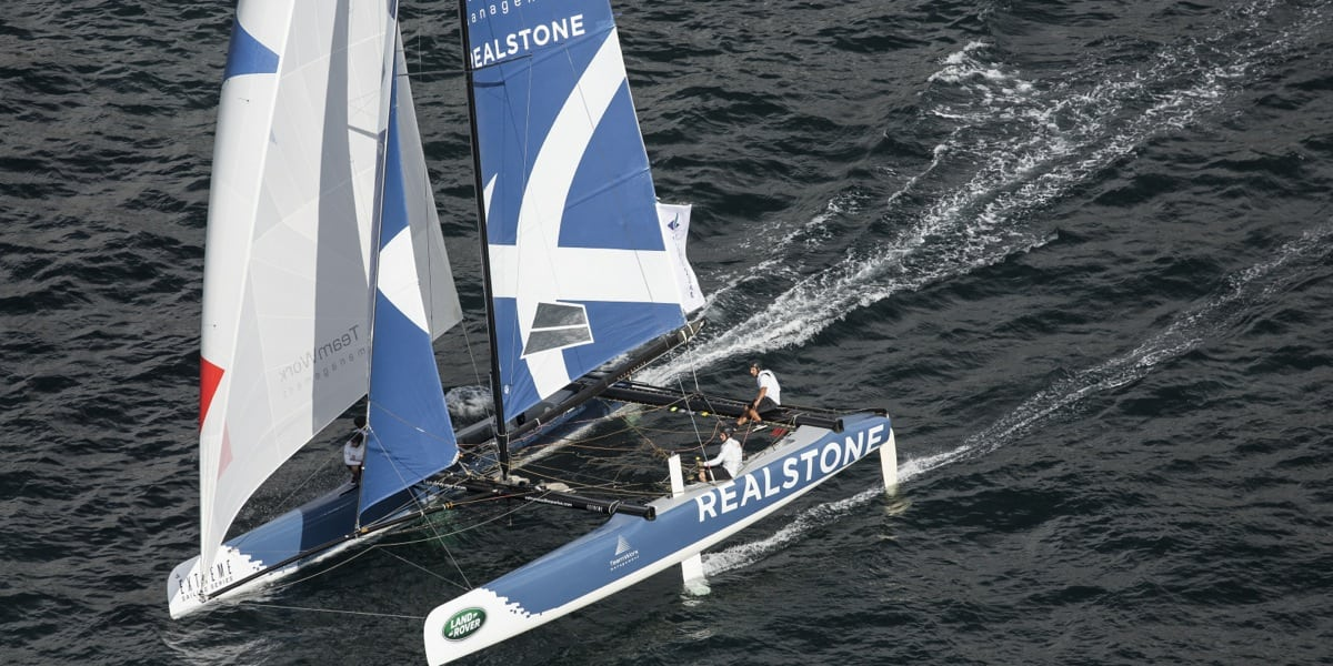 The temperature rises on the Extreme Sailing Series