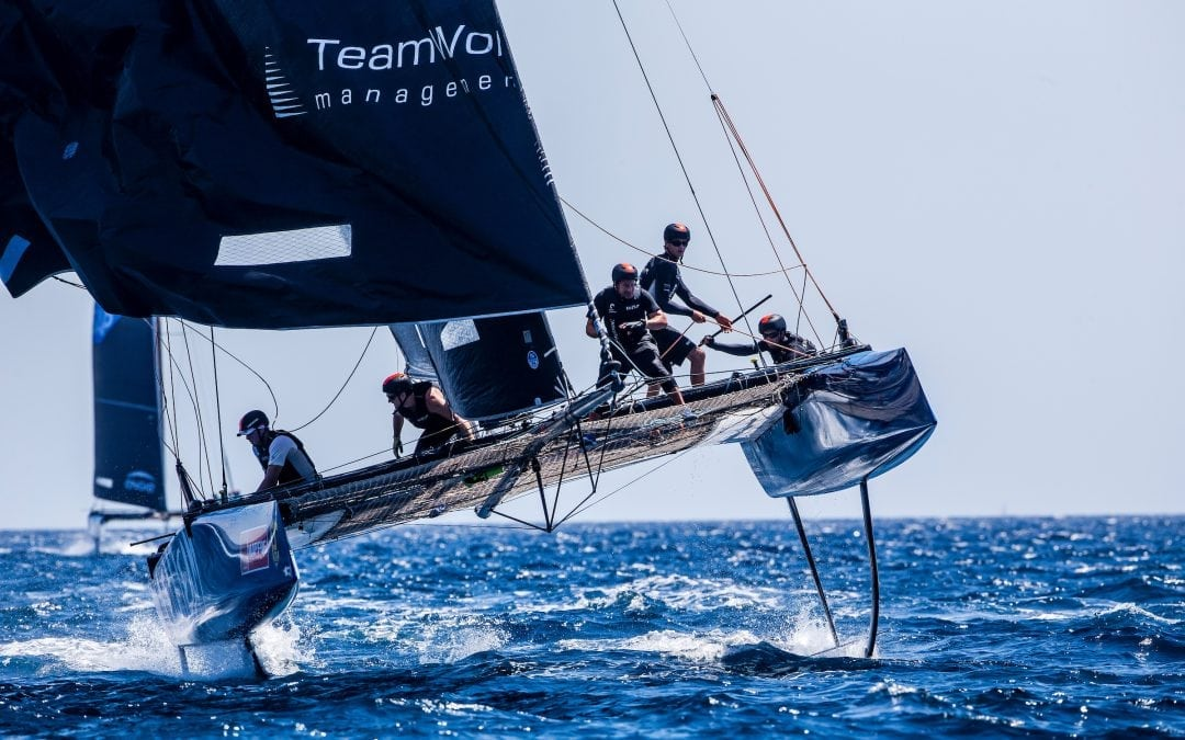 Realteam grasps the third place at Spain's Copa del Rey and retains its number 1 position on the GC32 Racing Tour standings